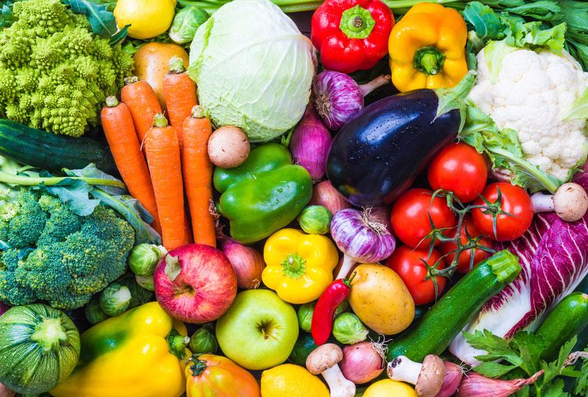 Légumes frais préparés par l'Étoile de Saclay